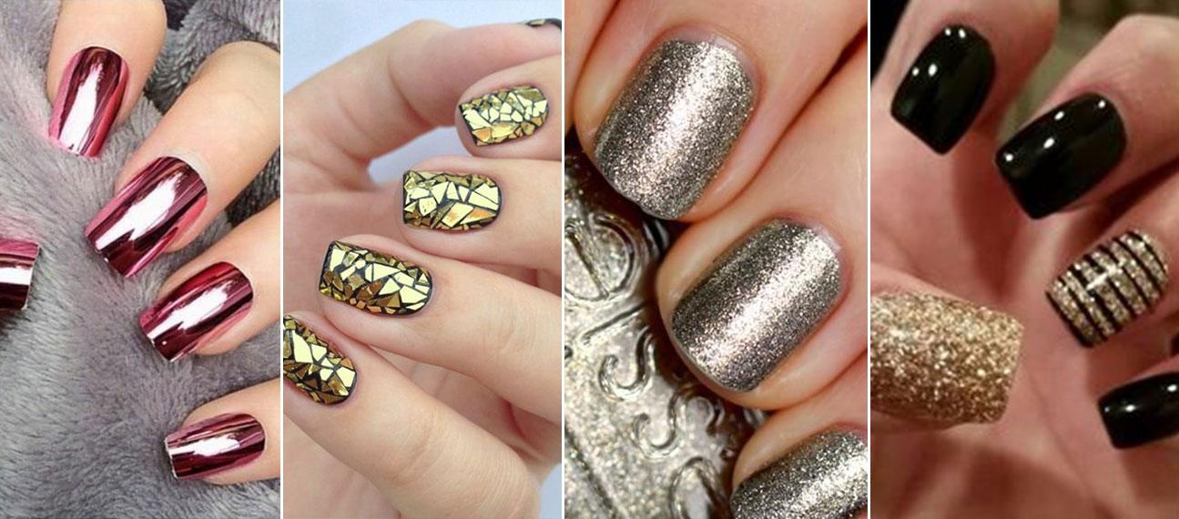 Oro argento e glitter la manicure per natale 2016 - Unghie argento specchio ...